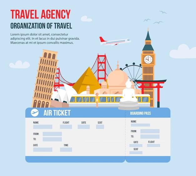 Design for travel agency Premium Vector