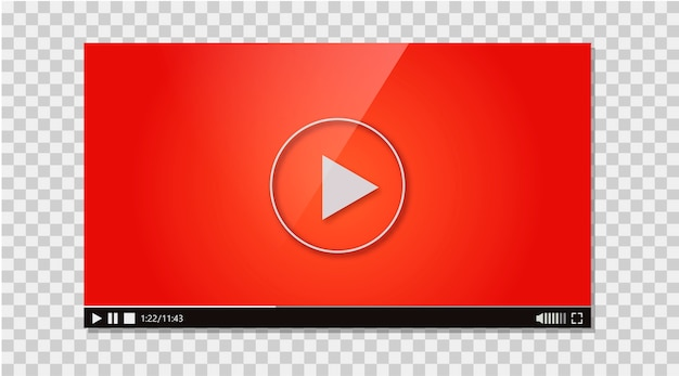 Design of the video player Free Vector