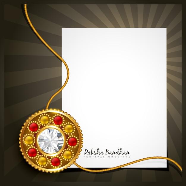 Design with sheet of paper for raksha bandhan Premium Vector