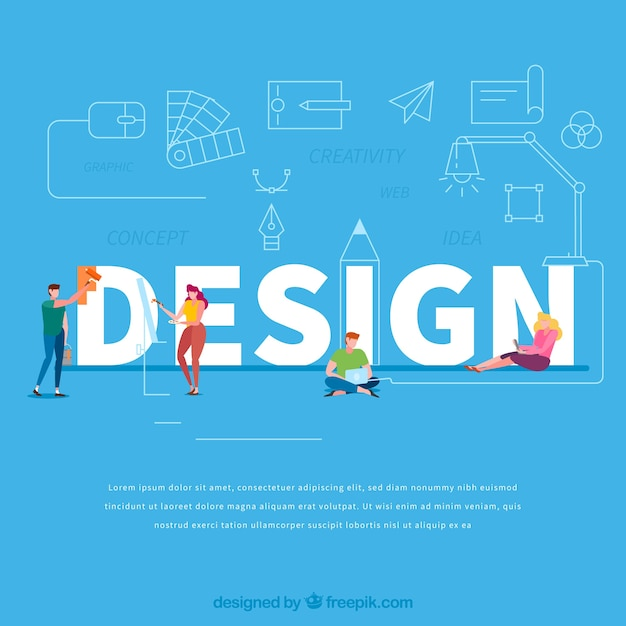 Design word concept Free Vector
