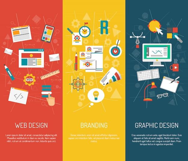 Designer banner set Free Vector