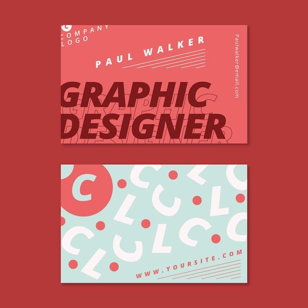 Designer business card template design Free Vector