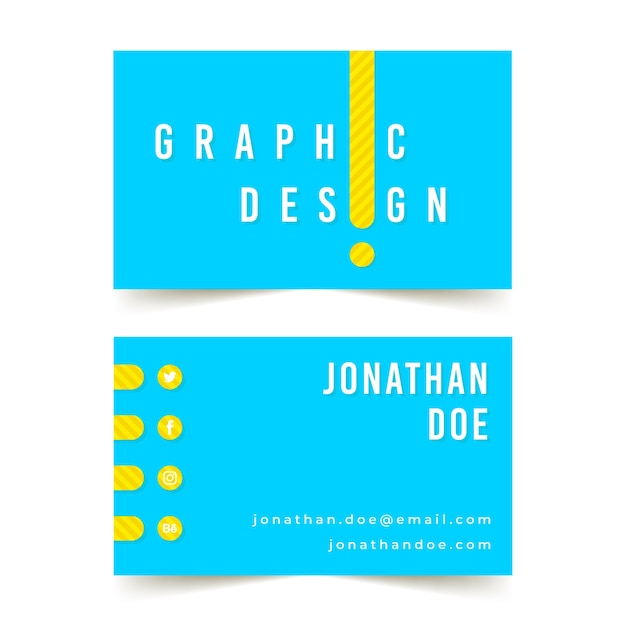 Designer business card template Free Vector