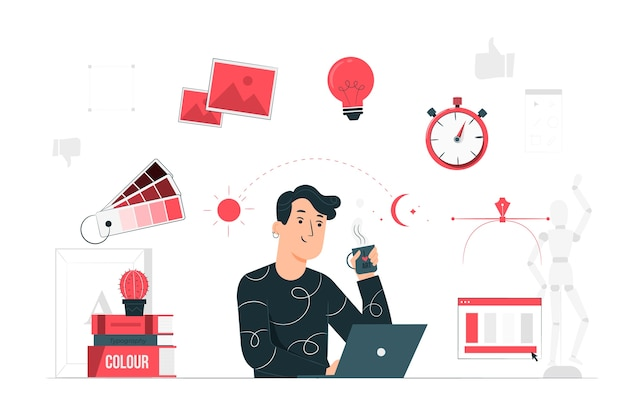 Designer life concept illustration Free Vector