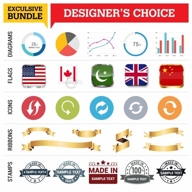 Designer's choice elements Free Vector