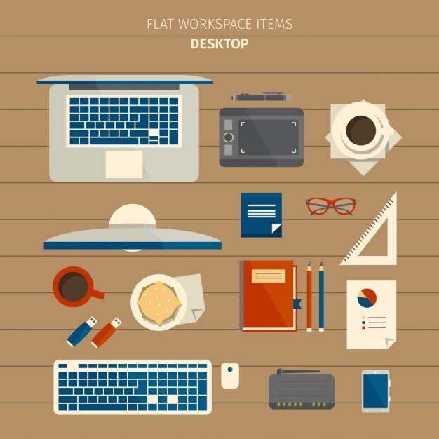 Designer work elements Free Vector