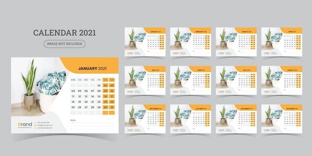 Premium Vector   Desk calendar 2021