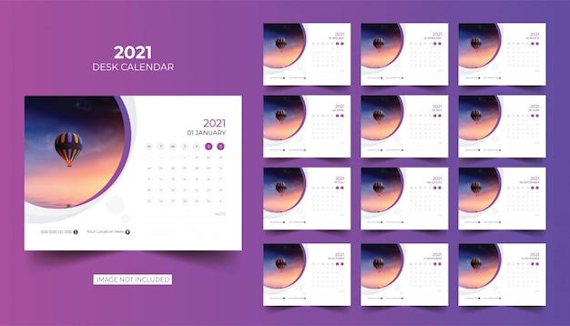 Desk calendar kalender meja 2021