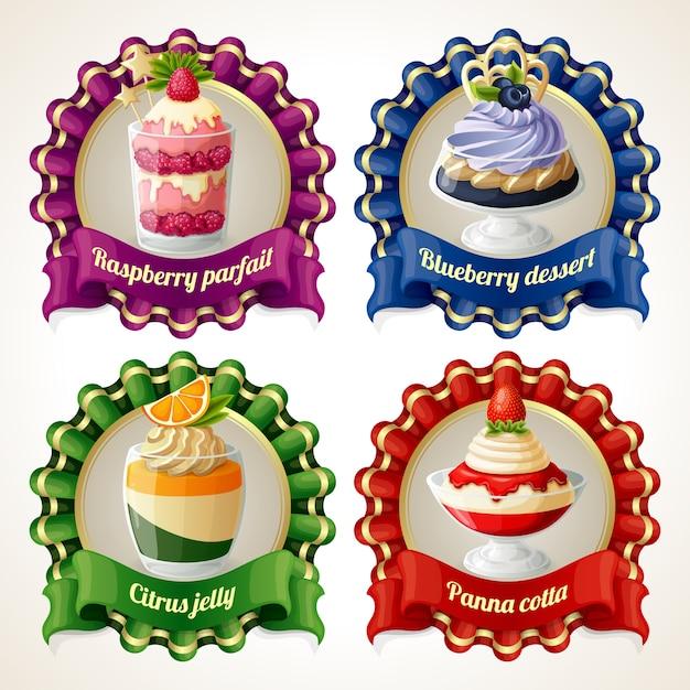 Dessert badges