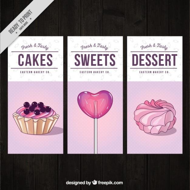 Dessert flyer collection