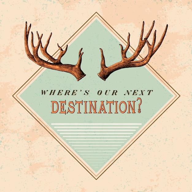 Destination travel logo design vector Free Vector