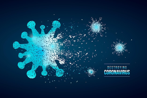 Destroying coronavirus background style Free Vector