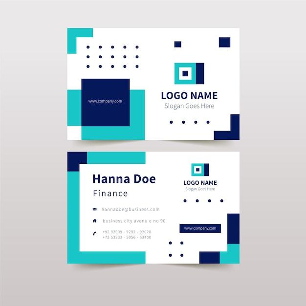 詳細な抽象的な会社カードデザイン 無料ベクター