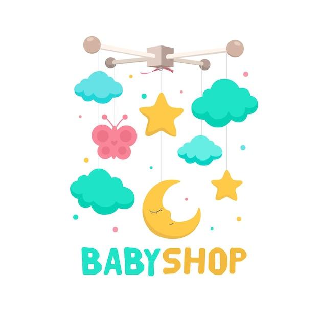 Modello di logo bambino dettagliato Vettore gratuito