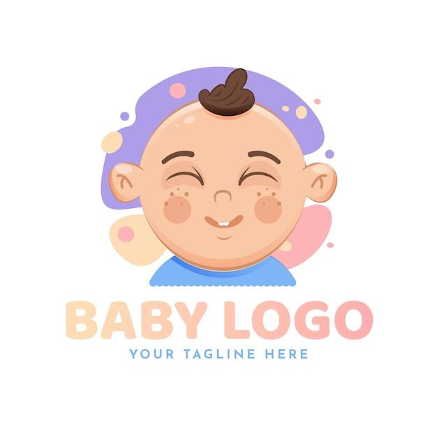 Детальный шаблон детского логотипа Бесплатные векторы