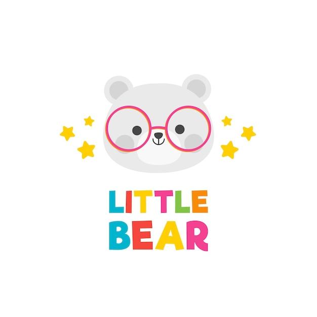 Детальный детский логотип Бесплатные векторы