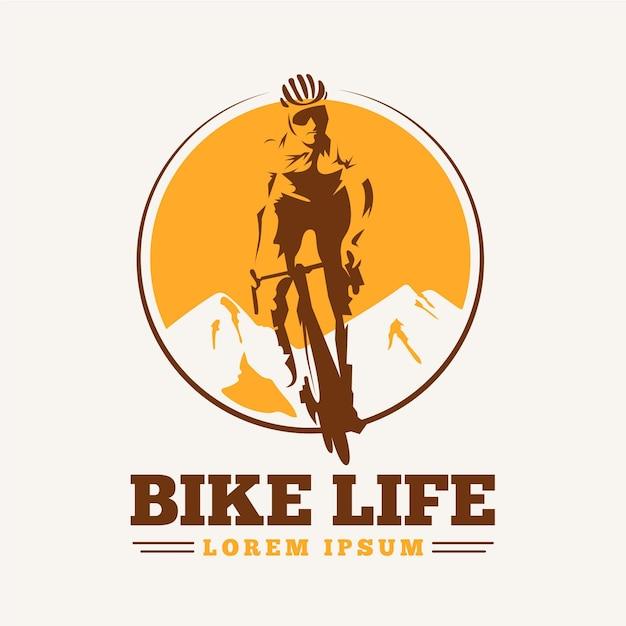 Подробный шаблон логотипа велосипеда Бесплатные векторы