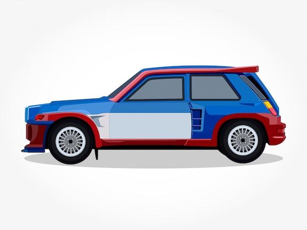 Detailed body and rims of car cartoon illustration Premium Vector