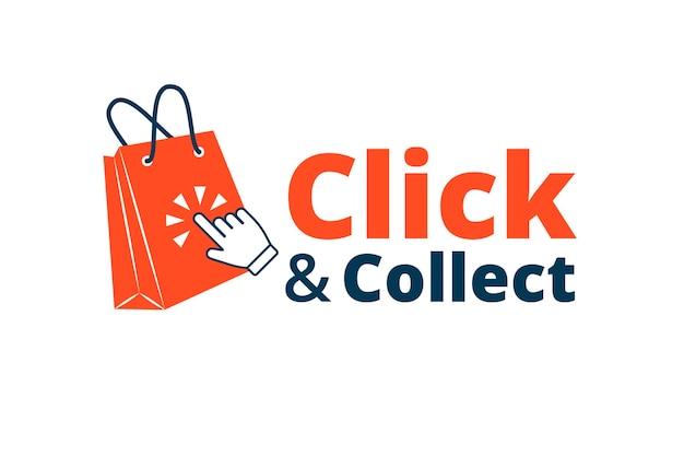 Fare clic e raccogliere segno dettagliato Vettore gratuito