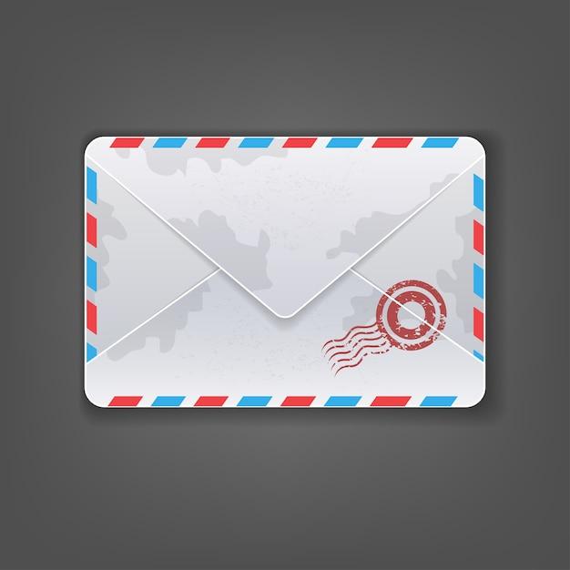 Detailed envelope mail icon Premium Vector