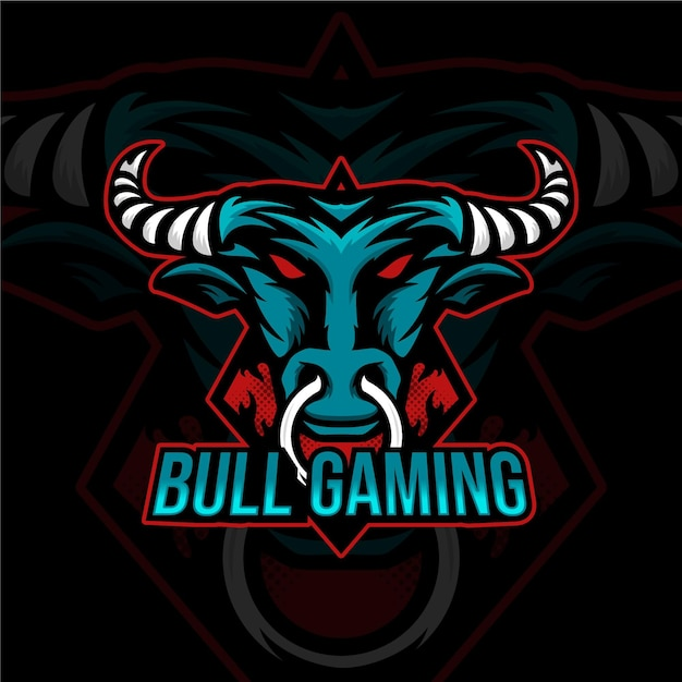 Detailed esports gaming logo template Free Vector