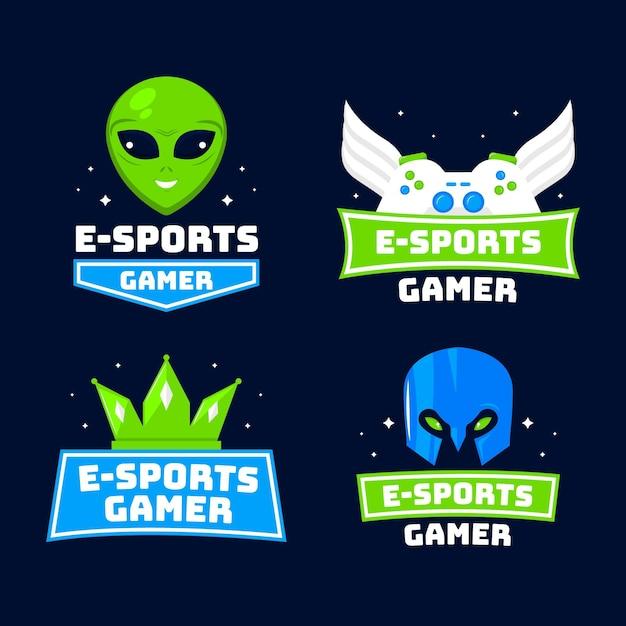 Detailed esports gaming logo Free Vector