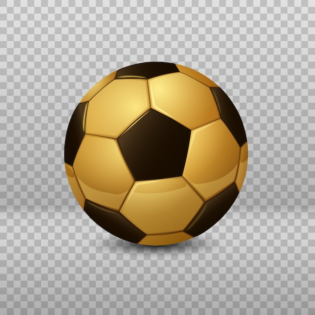 Detailed golden soccer ball isolated Premium Vector