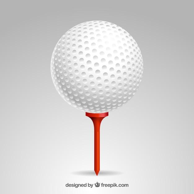 Detailed golf ball