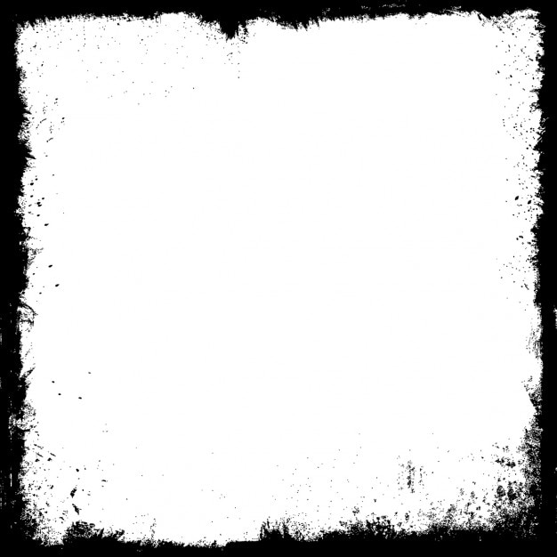 Detailed grunge frame in black and white Vector | Free Download