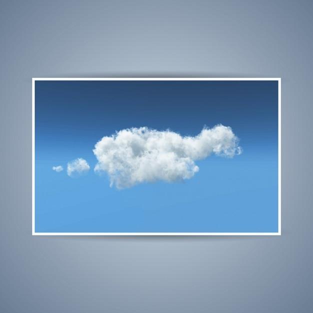 Illustrazione dettagliata di una nuvola bianca pennuto Vettore gratuito