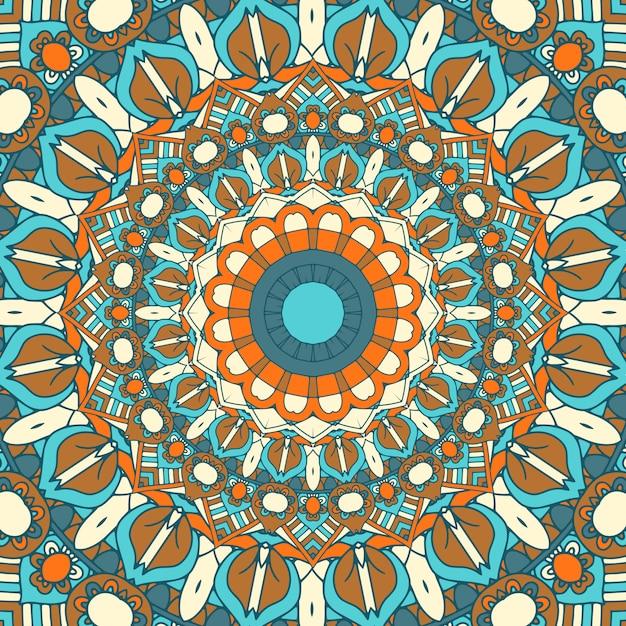 Detailed mandala design background Free Vector