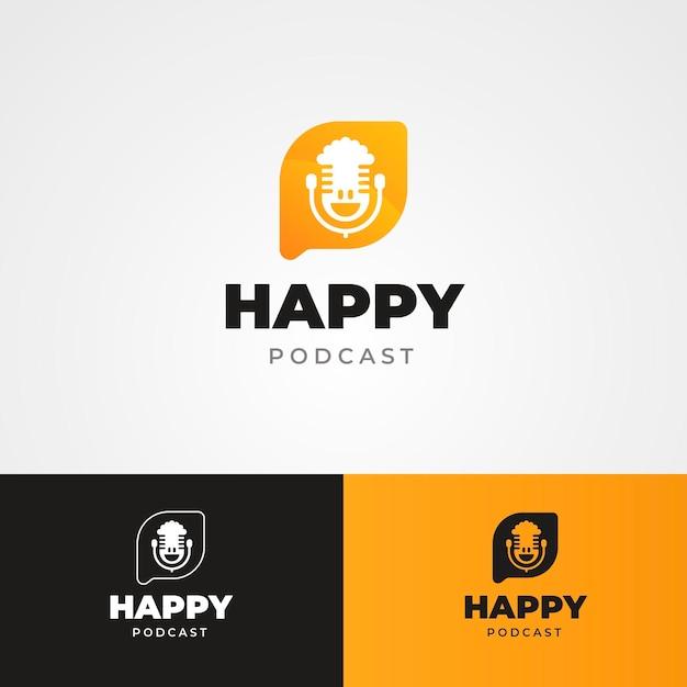 Modello di logo podcast dettagliato Vettore gratuito