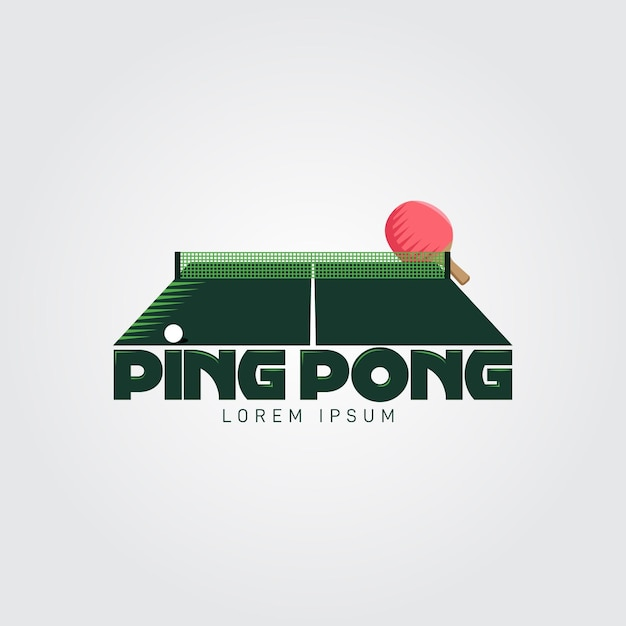 Detailed table tennis logo concept Free Vector