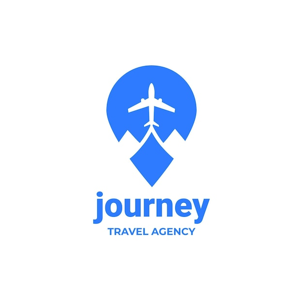 Detailed travel logo for agency Free Vector