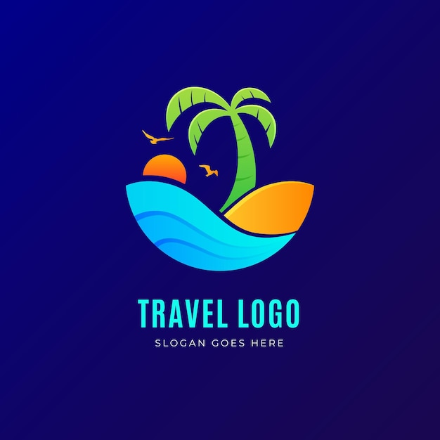 Detailed travel logo concept Free Vector