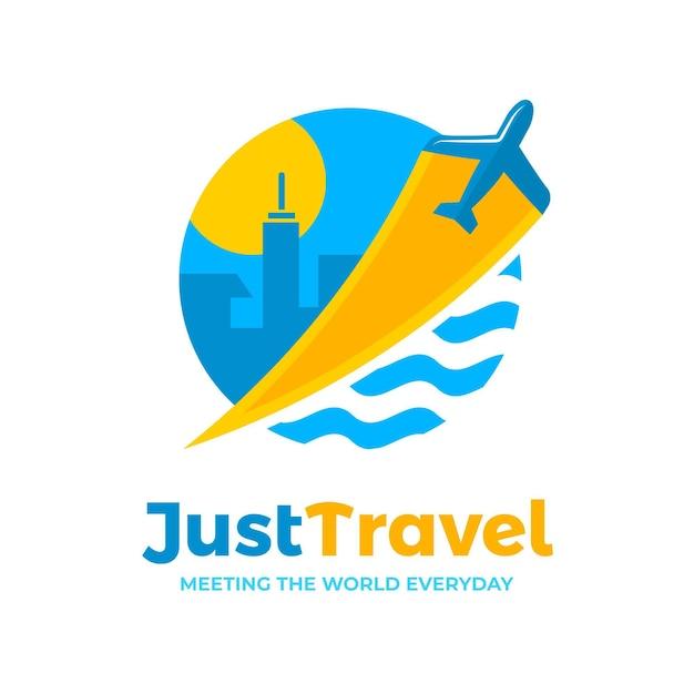 Подробная концепция логотипа путешествия Бесплатные векторы