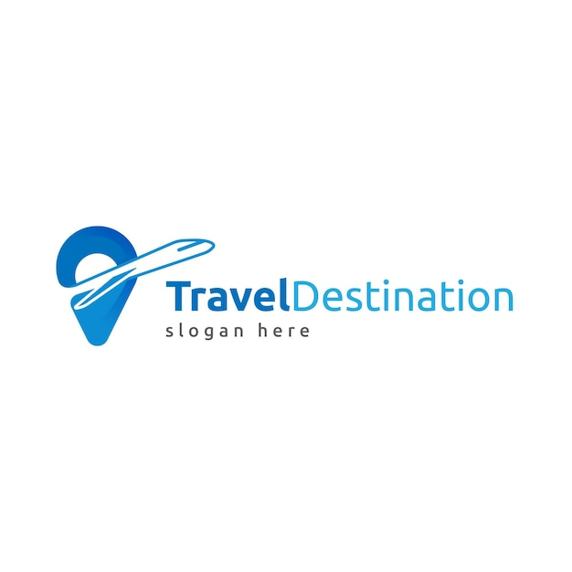 Detailed travel logo template with slogan placeholder Free Vector