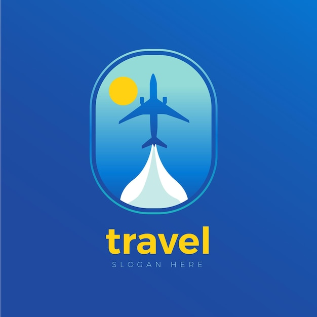 Detailed travel logo template Free Vector