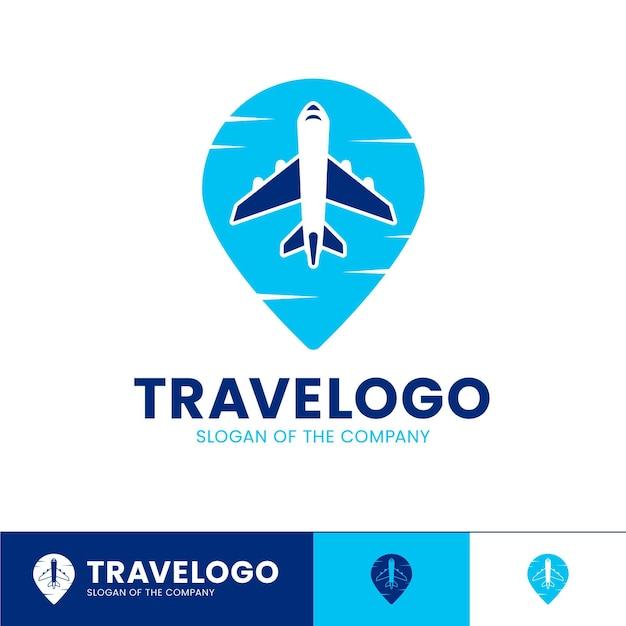 Подробный логотип путешествия с самолета Бесплатные векторы