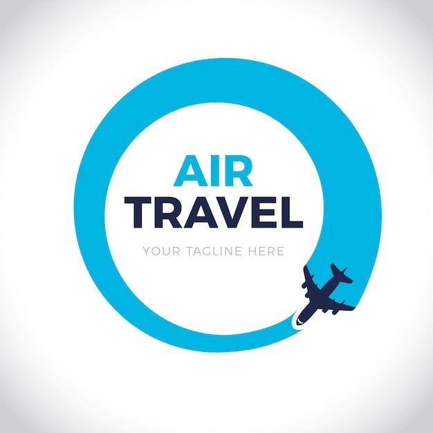 詳細な旅行ロゴ 無料ベクター