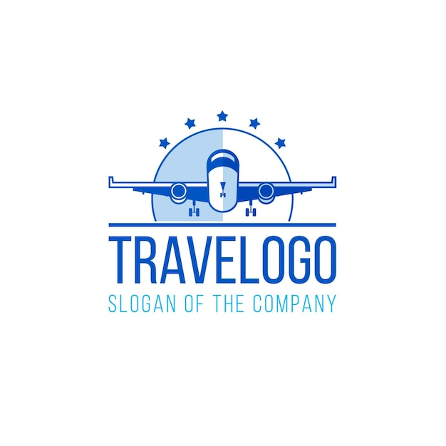 Detailed travel logo Premium Vector
