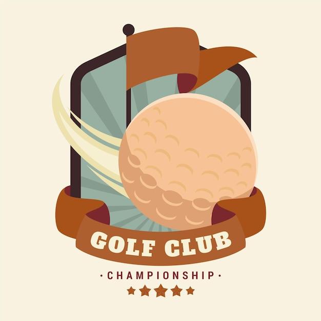 Modello di logo di golf vintage dettagliato Vettore gratuito