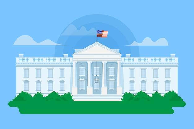 자세한 백악관 그림 무료 벡터