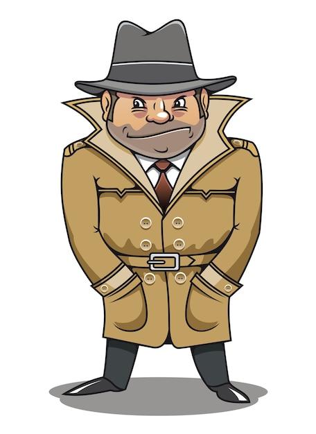 Detective agent or spy man Premium Vector
