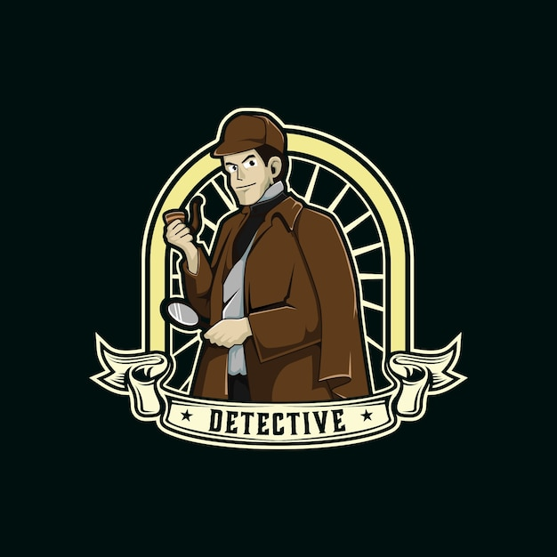 detective characters logo mascot graphic vector premium download