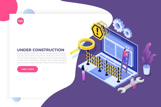 Сайт в разработке, сайт в разработке Premium векторы