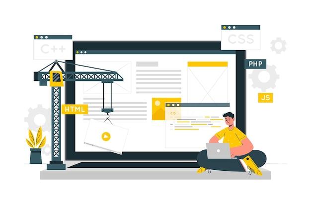 Illustrazione del concetto di sviluppo Vettore gratuito
