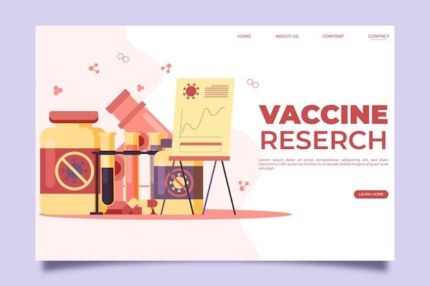 Разработка целевой страницы вакцины против коронавируса Бесплатные векторы