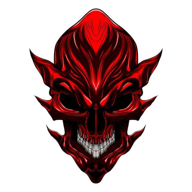 Devil evil skull Premium Vector