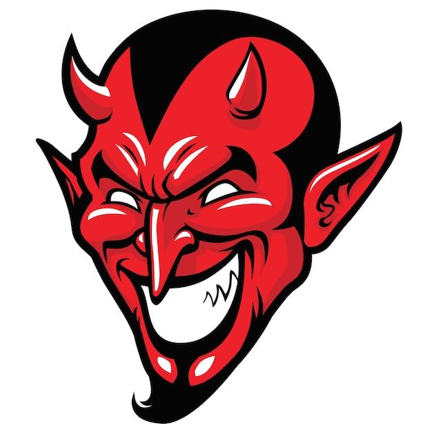 Devil head mascot Premium Vector